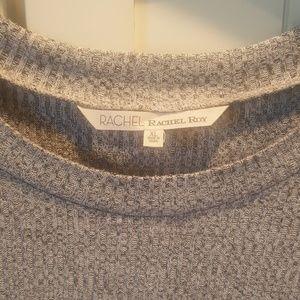 Rachel Roy Hi-Low zipper sides lightweight sweater
